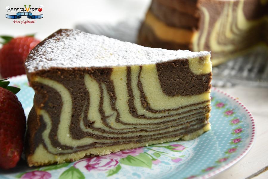 Doua Culori.Cheesecake Zebra La Cuptor Pasca In Doua Culori Fara Aluat Reteta